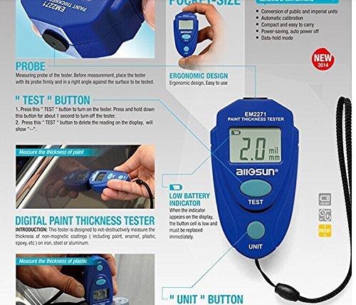 Paint Tester car & auto accessories :: actpe portable digital lcd paint